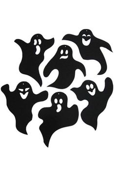 Ghost Paper Wall Deco (ゴースト ペーパー 壁飾り)【ハロウィングッズ・コスチューム】【802456】 Halloween Stencils, Halloween Drawings, Halloween Stickers, Halloween Pictures, Halloween 2019, Holidays Halloween, Halloween Crafts, Happy Halloween, Halloween Party