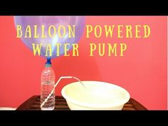 How to Make Water Pump with Balloon- Easy Air Pressure Science Experiment/ Project for Kids - YouTube