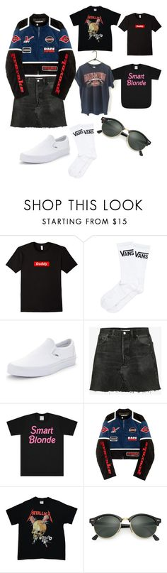 """What shirt"" by cookiescore on Polyvore featuring Harley-Davidson, Vans, RE/DONE, Hyein Seo, INC International Concepts and Ray-Ban"