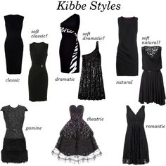 Soft classic for me    Little Black Dresses, Kibbe Style?, created by mpsakatrixie on Polyvore