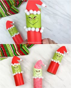 This Christmas, gather the kids together to make this simple toilet paper roll Grinch craft! It comes with a free printable so it's super easy to do with toddlers, preschoolers or kindergarten children. There's a full color version or a color in one. Christmas Crafts For Kids To Make, Christmas Activities, Xmas Crafts, Christmas Art, Diy Crafts For Kids, Halloween Crafts, Fun Crafts, Christmas Decorations, Christmas Paper Chains
