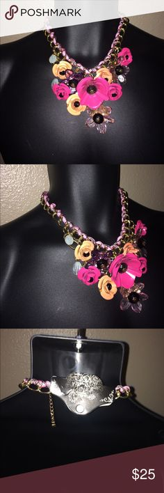 New flower pink necklace New flower pink necklace Jewelry Necklaces