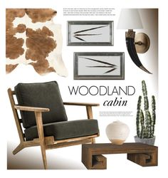 """Woodland Cabin"" by kathykuohome ❤ liked on Polyvore featuring interior, interiors, interior design, home, home decor, interior decorating and rustic"