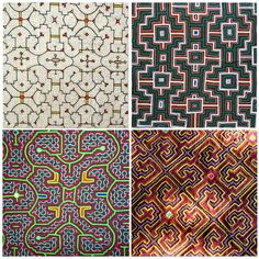 Patterns from Shipibo textiles are nonlinear artifacts of ayahuasca hallucination. Many patterns are fractal representations of repeating forms embedded within each other, similar to Wonderlich, Hilbert, and Moore fractals.
