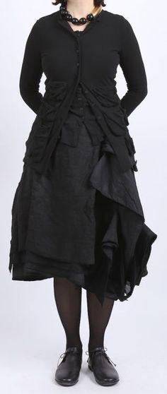 Roundwood падение - Рок белье прямоугольный черный