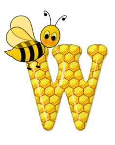 Alphabet letters bee on honeycomb. Moldes Para Baby Shower, Scrapbook Letters, Bee Pictures, Spelling Bee, Bee Party, Alphabet And Numbers, Alphabet Letters, Bee Theme, Letter Art