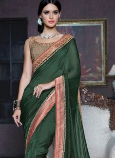 Green Patch Border Work Fancy Fabric Traditional  Saree #indian #saree #trendy #red #bridal#bollewood #party wear #traditional#online #mangosurat#style #boutiques #shopping #fashion #modal #social #branding #sales #marketing #business #discount #deal #success #ethnic #creation #embroidery #classic #cloth #clothing #bridal wear#jardoshi #work #chiffon #acteress #navel #desi #new #woman fashion #designersuit #bridal