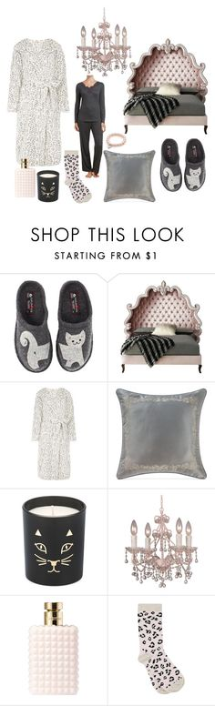 """""""Sleepy Wild Cat"""" by barbara-ward-1 on Polyvore featuring Haflinger, Haute House, Dorothy Perkins, Waterford, Charlotte Olympia, Crystorama, Valentino and M&Co"""