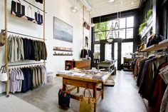 Love the use of the rope! Dunderdon: Store Design, Layout & Interior - Portland, OR / The Official Manufacturing Company