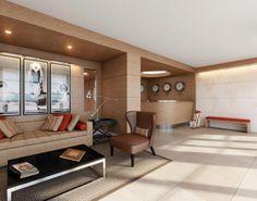 Sam Robin-designed lobby at Riva Bay Harbor Condominium - Luxury Waterfront Condominiums in Bal Harbor, Florida