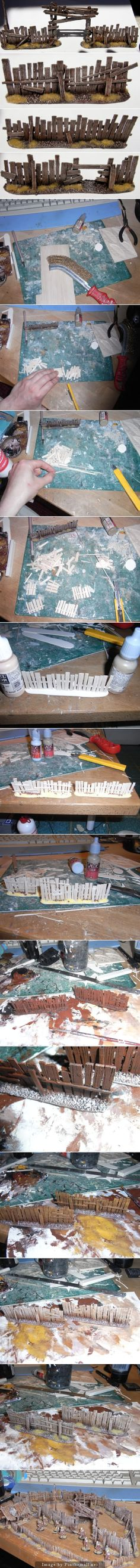 Model Railroad Fence How to. For more visit http://qr.net/3SC2