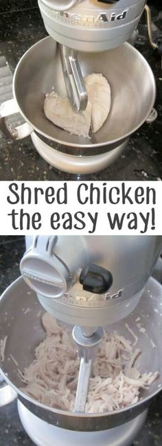 Comments say that this shreds chicken perfectly!