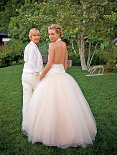 Ellen and Portia. Love them. #celebrityweddings
