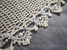 thread and beads infinity scarf Tutorial ~Teresa Restegui~