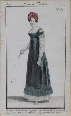 Regency Dress, Regency Era, Historical Costume, Historical Clothing, 1800s Clothing, Late Modern Period, Mode Costume, Fashion Illustration Vintage, German Fashion