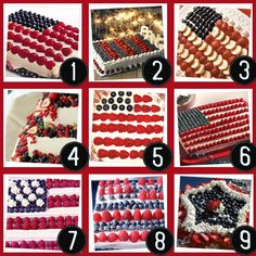 Fourth of July, Independence Day, Flag Day cakes