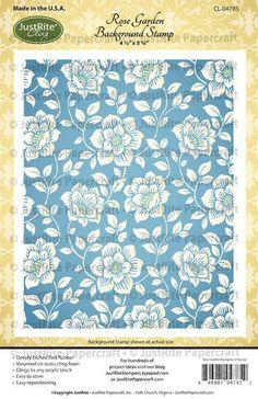Rose Garden Background Cling Stamp designed by Amy Tedder