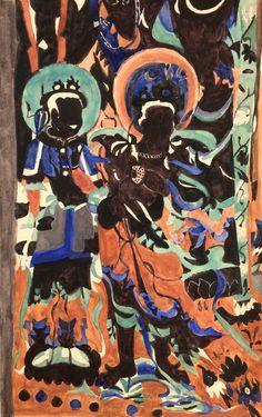 5.my DunHuang painting(China,Sunqian,2016,watercolor)