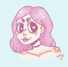 "Check ""frids.frids.srl ""     on Instagram to see more!   Love her drawings! ♡  #kawaii #cute #drawings #pink"