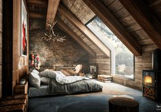 Master bedroom attic design and 60 attic bedroom ideas many designs 39 attic rooms cleverly making use of 15 attic bedrooms that will make you cool attic bedroom design ideas … Beautiful Bedrooms, Beautiful Homes, Amazing Bedrooms, Beautiful Dream, Beautiful Beds, Beautiful Images, Beautiful Things, Beautiful Space, Stunning View