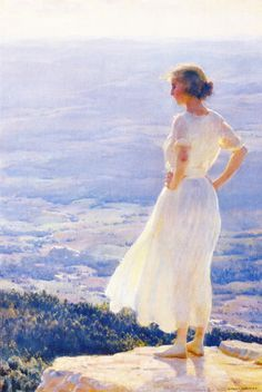 The Sunlit Valley    -    Charles Courtney Curran , 1920