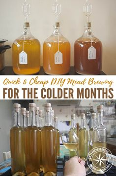 Quick & Cheap DIY Mead Brewing For The Colder Months — This is a really cool project. A few months ago I posted How To Make Mead (Honey Wine) and that went down really well, a lot of you commented how yummy and easy it is to make. Homemade Wine Recipes, Homemade Alcohol, Homemade Liquor, Homebrew Recipes, Beer Recipes, Alcohol Recipes, Fermentation Recipes, Tequila, Mead Wine