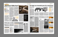 Diario Biota by Luc Geoffroy, via Behance Newspaper Design Layout, Page Layout Design, Love Design, Newsletter Layout, Newsletter Design, Graphic Design Resume, Graphic Design Layouts, Editorial Layout, Editorial Design