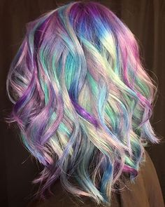 Silvers, blues, mints, and amethysts on Carla, my client that visits me from Germany a few times a year. We are SO pleased with how this… Pastel Hair, Purple Hair, Corte Y Color, Gorgeous Hair, Beautiful, Pinterest Hair, Coloured Hair, Cool Hair Color, Hair Colors