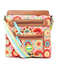 This Pink & Orange Botanical Bloom Bella Crossbody Bag by Lily Bloom is perfect! #zulilyfinds
