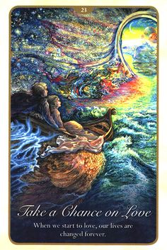 """""""23 Take a Chance on Love"""" Oracle Cards Whispers of Love par Josephine Wall and Angela Hartfield"""