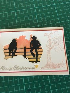Australian Christmas Cards, Aussie Christmas, Men's Cards, Xmas Cards, Greeting Cards, Western Christmas, Handmade Christmas, Christmas In Australia, Horse Cards