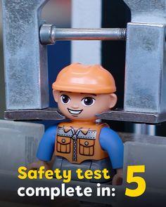 👩🔬 Did you know our bricks go through a *LICK* test? 😮 #LEGO #DUPLO #safety #testlab #safetyfirst