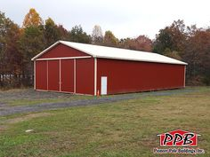 """ID#: 458 40' W x 80' L x 14' 4"""" H 40' Standard Trusses, 4' on Center, 4/12 Pitch - Fo More Information: http://pioneerpolebuildings.com/portfolio/project/40-w-x-80-l-x-14-4-h-id-458-total-cost-contact-us"""