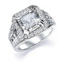 Royal Asscher Cut Engagement Ring model MR30EB available at TWO by LONDON!