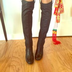 """Laurence Dacade black knee high boots Black knee high boots in leather, in great condition! For reference I am 5'7"""" and about 120 lbs. Laurence Dacade makes high quality boots, these will last forever! Laurence Dacade Shoes"""