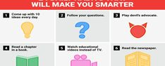 24 Quick Daily Habits You Can Use to Be Smarter