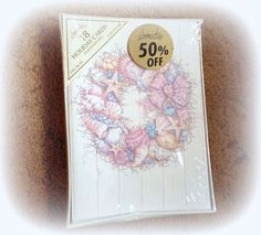 ONLY $3 Seashell Holiday Cards Lot of 18 from Image Arts Inc. http://www.bonanza.com/listings/217646951
