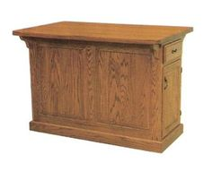 Design Your Own #Amish #Kitchen Island with Side Drawers and Cabinets