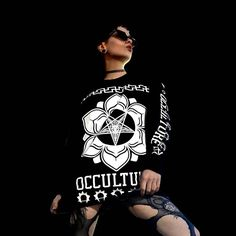 """Baphomet Occulture"" Longsleeve Tall Tee Available at www.crmc-clothing.co.uk 