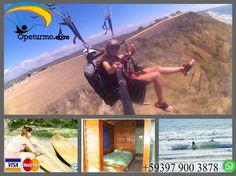 Paragliding Tour + Accommodation + Surf lessons . Come and enjoy this weekend in the company of your friends / family this fun tour where you can see the landscape of the Ecuadorian coast in a dynamic paragliding , enjoy the sea in a surf lesson and finally one night break a Hostel facing the sea. All you want !
