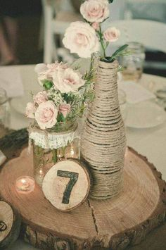 Rustic centerpiece for my rustic wedding