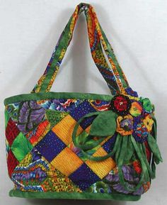 Fabric tote for summer.