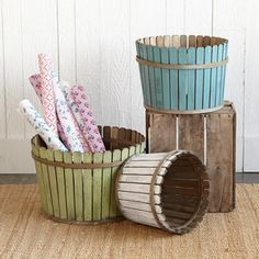 Fence Buckets made with popsicle sticks