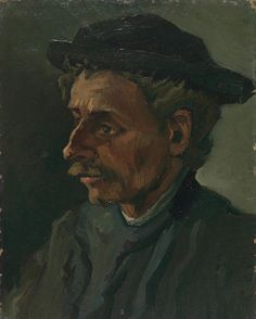 #ArtOfTheWeek Head of a Man, Vincent van Gogh (1885) #vangogh #vangoghmuseum #portrait
