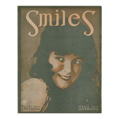 Smiles Vintage Music Poster
