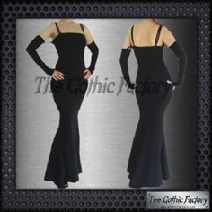 Kate's Clothing Gothic Fishtail Dress Black