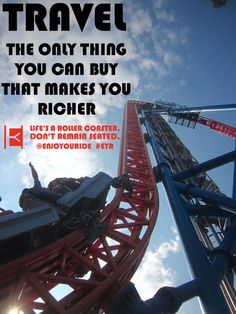 Travel and @ENJOYOURIDE :)  Life's a roller coaster. Don't remain seated. @ENJOYOURIDE #EYR www.looseleafbrands.com