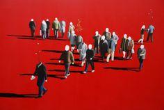 "Xevi Villaro ""Dreamer Series"" Acrylic on Canvas- Original - 32 x 53"