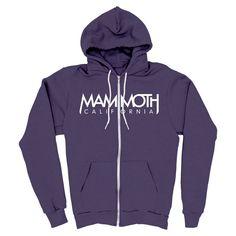 MAMMOTH - California Imperial Purple Zip Up Hoodie - Unisex Sizes XS - 3XL