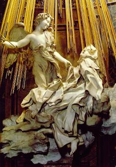 "Ecstacy of St. Theresa in Santa della Maria.  Bernini's ""Theresa"" and Michaelangelo's ""Pieta"" are said to be the ""Agony and Ecstacy"" of Roman sculpture."